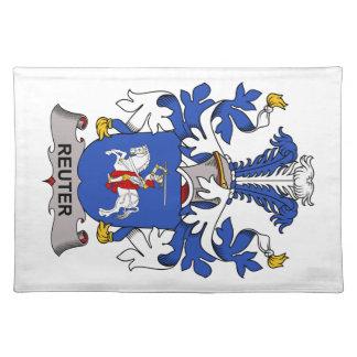 Escudo de la familia de Reuter Manteles