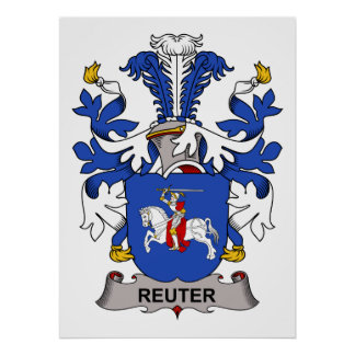 Escudo de la familia de Reuter Poster