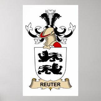 Escudo de la familia de Reuter Impresiones