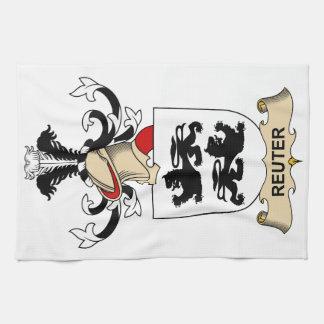 Escudo de la familia de Reuter Toallas De Mano