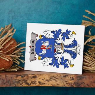 Escudo de la familia de Reuter Placas De Madera