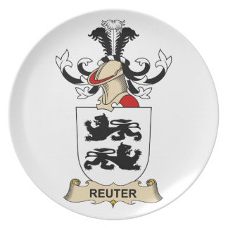 Escudo de la familia de Reuter Platos Para Fiestas