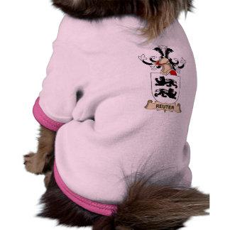 Escudo de la familia de Reuter Camisa De Mascota