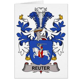 Escudo de la familia de Reuter Felicitacion