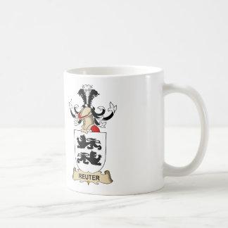 Escudo de la familia de Reuter Tazas De Café