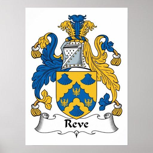 Escudo de la familia de Reve Poster