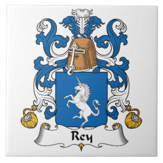 Escudo de la familia de Rey Azulejo Cuadrado Grande