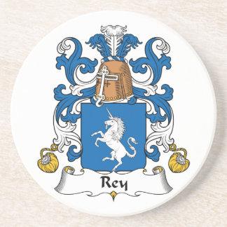 Escudo de la familia de Rey Posavasos Personalizados