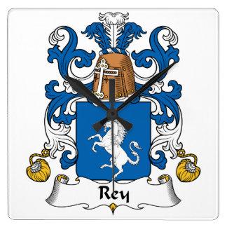 Escudo de la familia de Rey Reloj Cuadrado