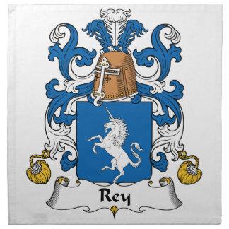 Escudo de la familia de Rey Servilletas