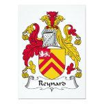 Escudo de la familia de Reynard Invitación 12,7 X 17,8 Cm