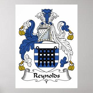 Escudo de la familia de Reynolds Póster