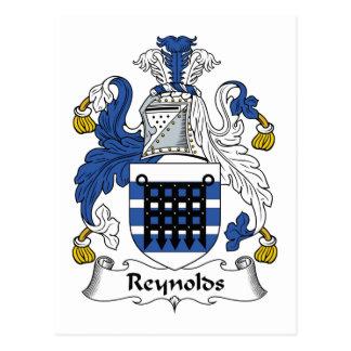 Escudo de la familia de Reynolds Tarjeta Postal