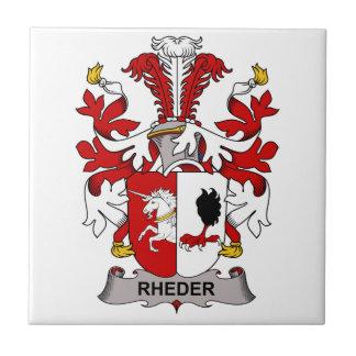 Escudo de la familia de Rheder Azulejo Cuadrado Pequeño