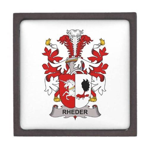 Escudo de la familia de Rheder Cajas De Joyas De Calidad