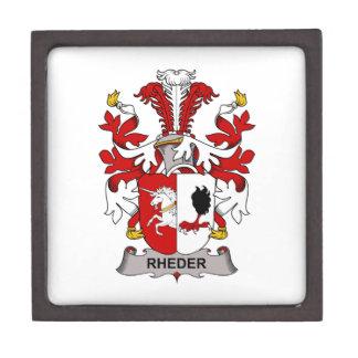 Escudo de la familia de Rheder Caja De Regalo De Calidad