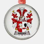 Escudo de la familia de Rheder Ornamento Para Reyes Magos