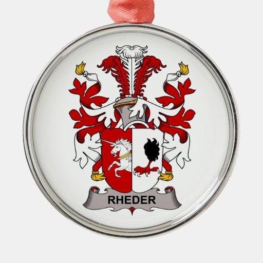 Escudo de la familia de Rheder Adorno Redondo Plateado