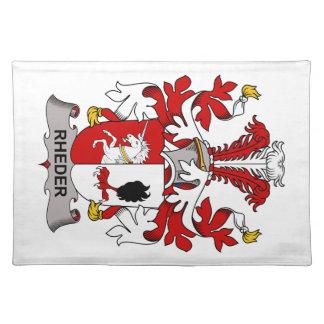 Escudo de la familia de Rheder Mantel Individual