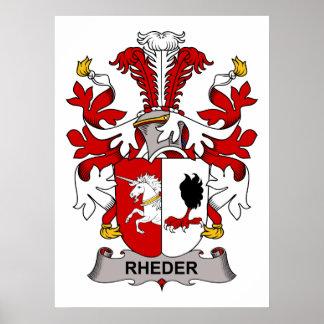Escudo de la familia de Rheder Póster