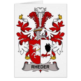 Escudo de la familia de Rheder Tarjeta De Felicitación