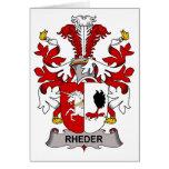 Escudo de la familia de Rheder Tarjetón