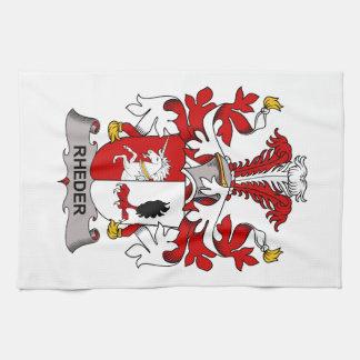 Escudo de la familia de Rheder Toalla De Cocina