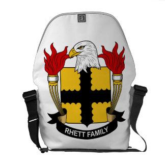 Escudo de la familia de Rhett Bolsa Messenger