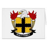 Escudo de la familia de Rhett Felicitación