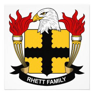 Escudo de la familia de Rhett Comunicado Personalizado