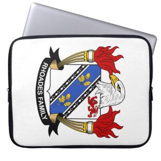 Escudo de la familia de Rhoades Fundas Ordendadores