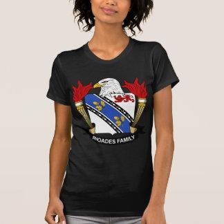 Escudo de la familia de Rhoades T Shirts