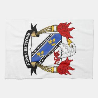 Escudo de la familia de Rhoades Toallas