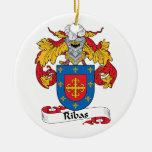 Escudo de la familia de Ribas Ornamento Para Arbol De Navidad