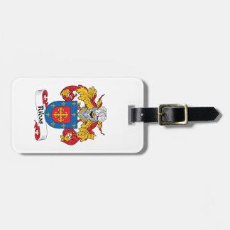 Escudo de la familia de Ribas Etiquetas Bolsa