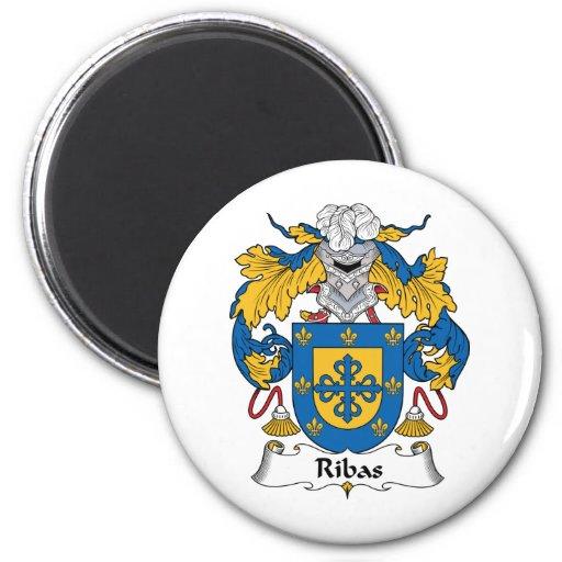 Escudo de la familia de Ribas Imán Redondo 5 Cm