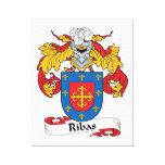 Escudo de la familia de Ribas Impresión En Lienzo Estirada
