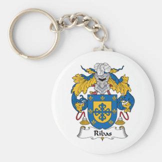 Escudo de la familia de Ribas Llavero Personalizado