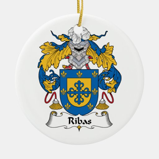 Escudo de la familia de Ribas Ornamento De Navidad