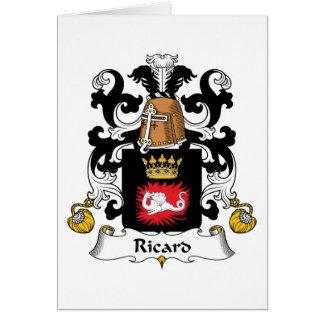 Escudo de la familia de Ricard Felicitación