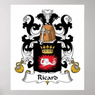 Escudo de la familia de Ricard Impresiones