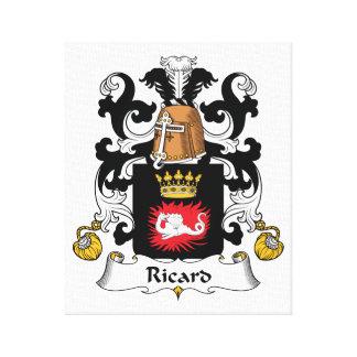 Escudo de la familia de Ricard Impresiones En Lienzo Estiradas