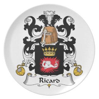 Escudo de la familia de Ricard Platos De Comidas