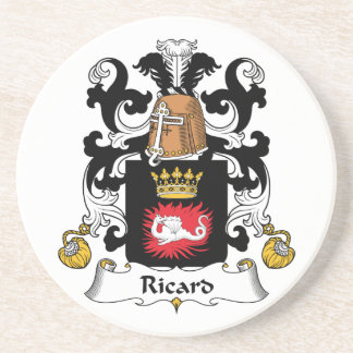 Escudo de la familia de Ricard Posavaso Para Bebida