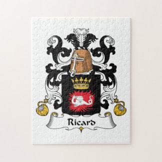 Escudo de la familia de Ricard Rompecabezas Con Fotos