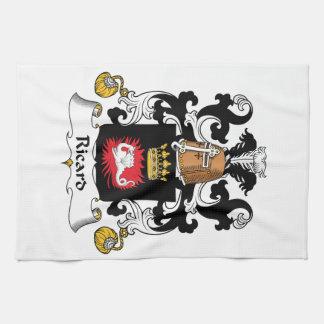 Escudo de la familia de Ricard Toalla De Mano