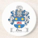 Escudo de la familia de Ricca Posavasos Para Bebidas