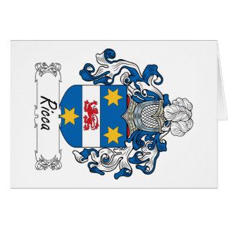 Escudo de la familia de Ricca Tarjeta De Felicitación