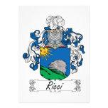 Escudo de la familia de Ricci Comunicados Personales