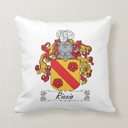 Escudo de la familia de Riccio Cojines